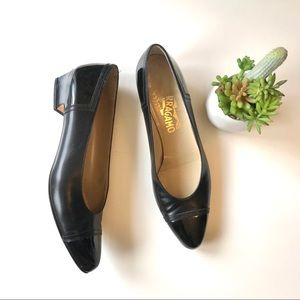 Salvatore Ferragamo black leather heels size 8.5